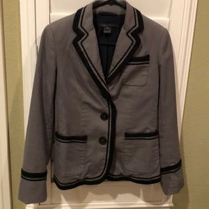 Marc by Marc Jacobs gray cotton blazer black trim